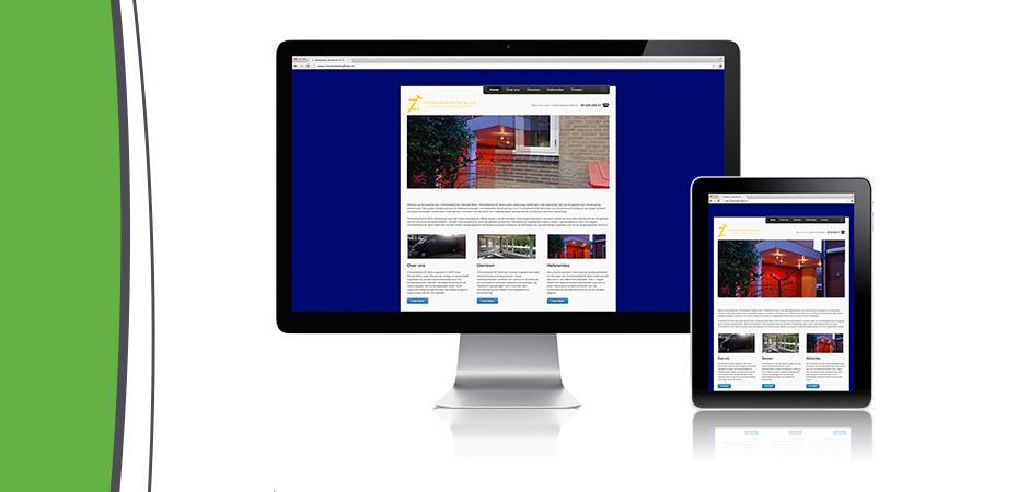 Website Timmerbedrijf Blok